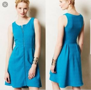 Anthropologie leifsdottir blue dress